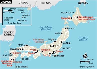 Foundations Of Japanese Civilization - Japan map 1500